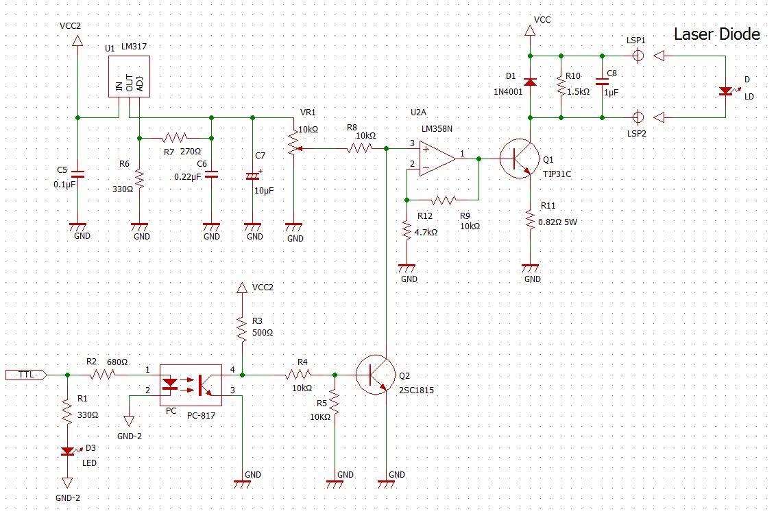 レーザードライバ回路